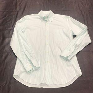 Ashwood Blake Green white dress shirt Swiss made